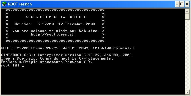 root starting window